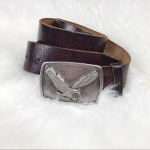 Fossil Brand cowhide leather belt Eagle buckle 32